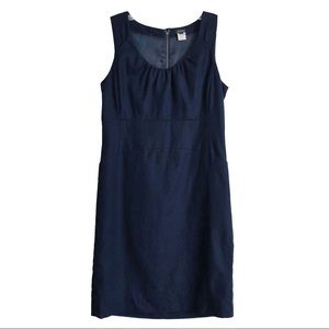J. Crew Allura Shift Dress Navy Blue Size 4